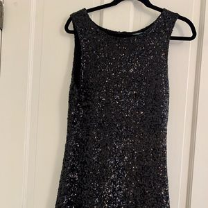 Velvet brand black sequin dress